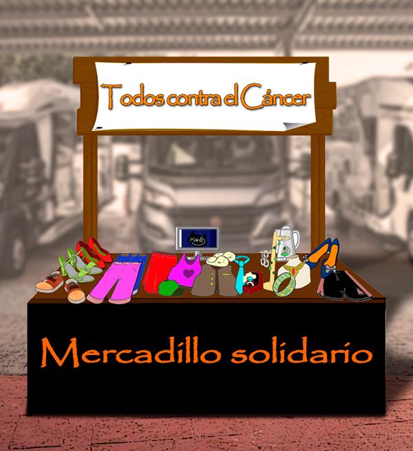 Mercadillo Solidario contra el Cáncer en Caravanas Osito