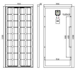 Alba-Sun 100w Kit Solar completo perfecto para caravanas y autocaravanas