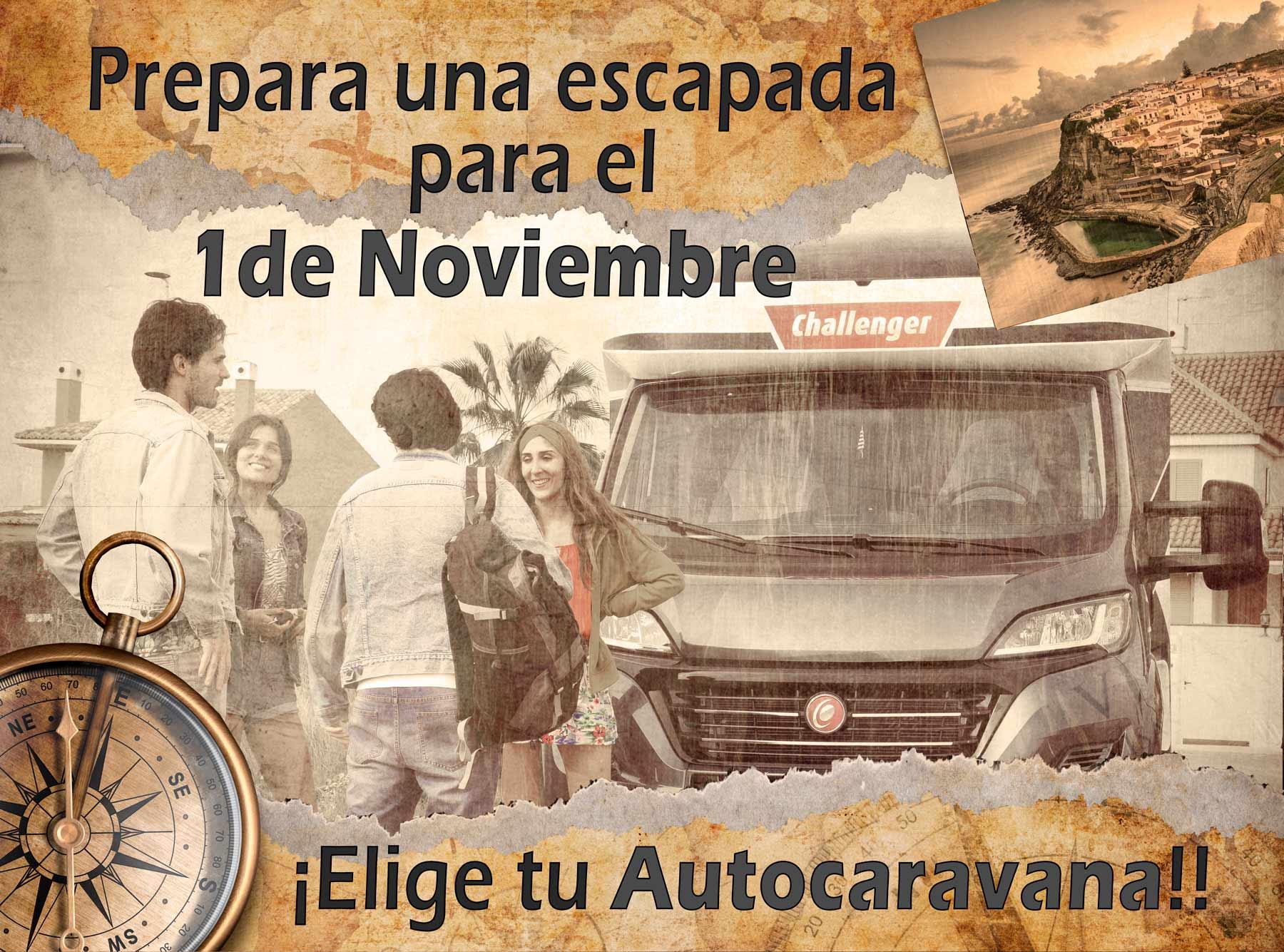 Viaja en Autocaravana el 1 de noviembre