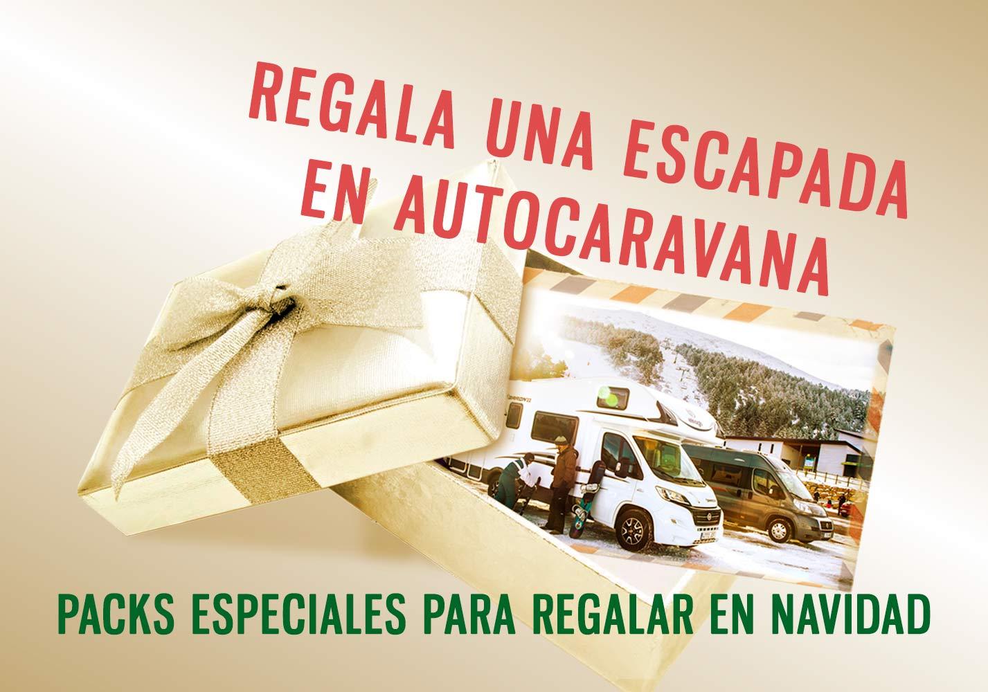 Regala una experiencia inolvidable. Packs especiales para regalar escapadas en autocaravana en Navidad y Reyes.