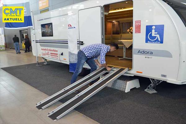 Nueva caravana sin barreras adaptada a las personas con discapacidad