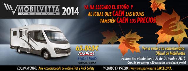 Ofertas Autocaravanas mobilvetta Otoño 2013