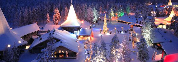 Navidad pueblo santa en autocaravana